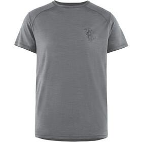 Klättermusen Eir Rain t-shirt Heren, grey melange